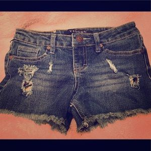 Vigoss Girls' Destructed Jean Shorts